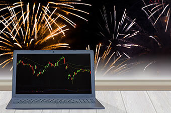 FIREWORKS IN THE STOCK MARKET